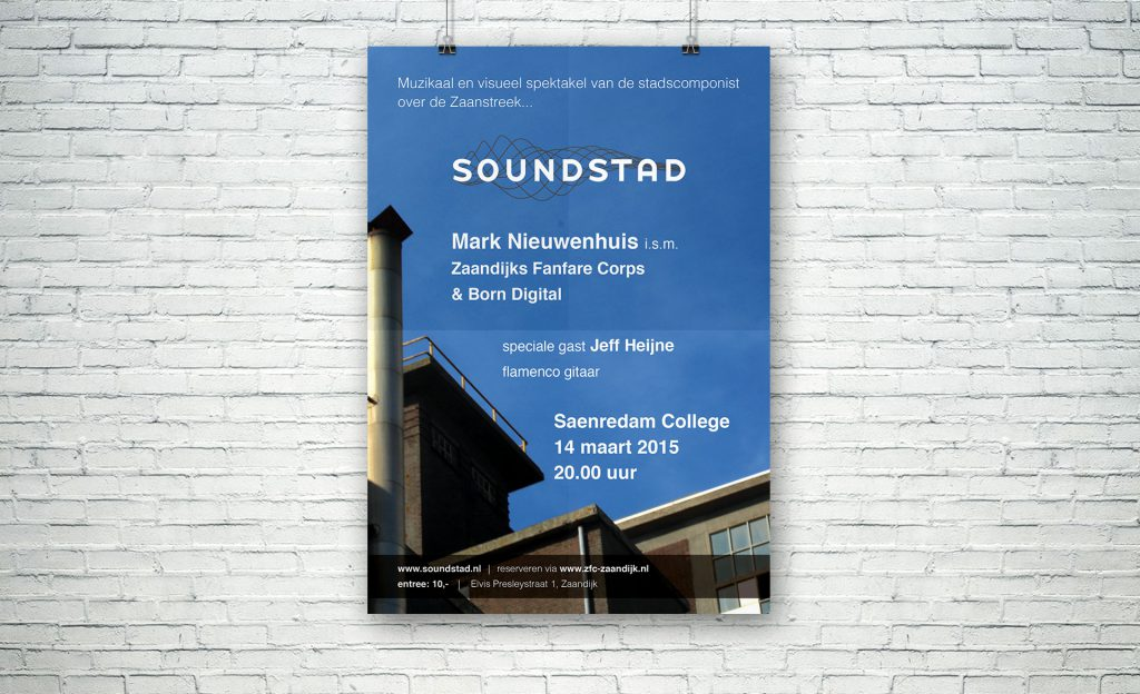 SOUNDSTAD, poster, graphic design, layout, music